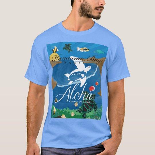 Hawaii Islands Aloha Turtle T-Shirt