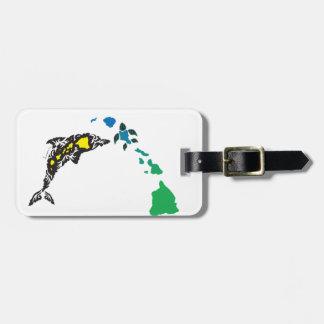 Hawaii islands and Hawaii Dolphin 22 Luggage Tag