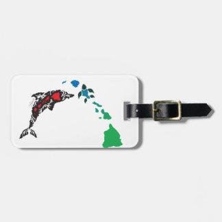 Hawaii islands and Hawaii Dolphin 23 Luggage Tag
