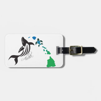Hawaii islands and Hawaii Whale 21 Luggage Tag