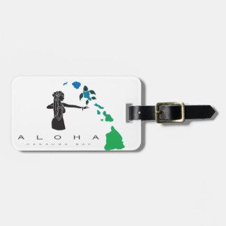 Hawaii islands and Hula Dance 29 Luggage Tag