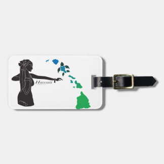 Hawaii islands and Hula Dance 30 Luggage Tag