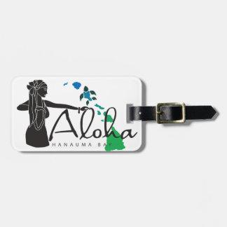Hawaii islands and Hula Dance 31 Luggage Tag
