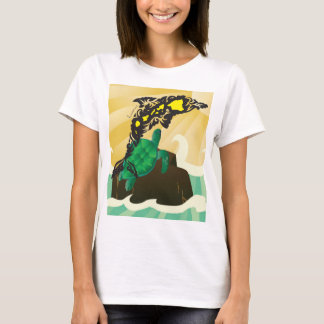 Hawaii Islands and turtle 183 T-Shirt