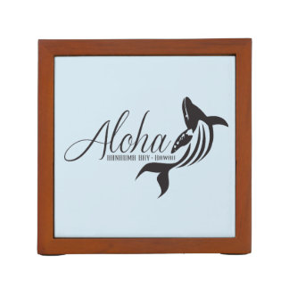 Hawaii Islands and Whales Desk Organizer