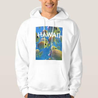 Hawaii Islands Butterfly Fish Hoodie