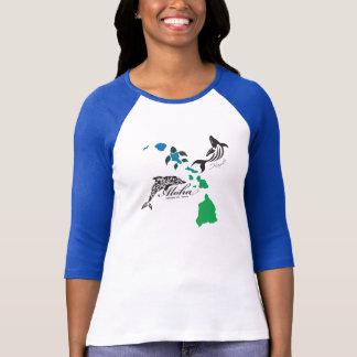 Hawaii Islands Chain - Hawaii Dolphin and Whale T-Shirt