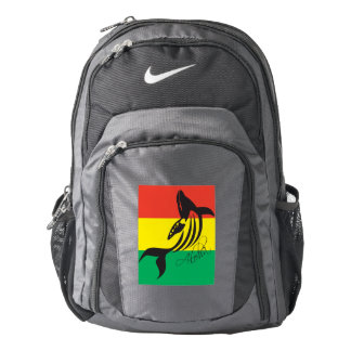 Hawaii Islands Reggae Aloha Whale Backpack