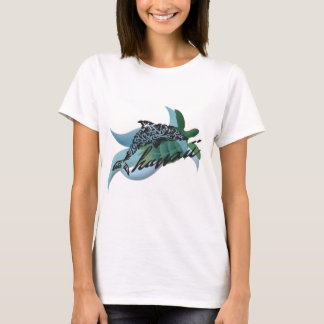 Hawaii Islands, Turtle and Dolphin 202 T-Shirt
