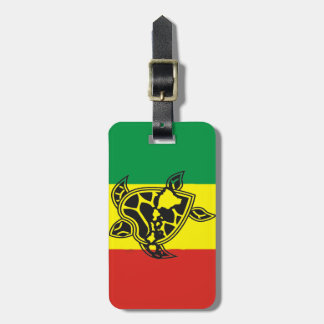 Hawaii Islands Turtle Luggage Tag
