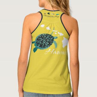 Hawaii Islands Turtle Tank Top