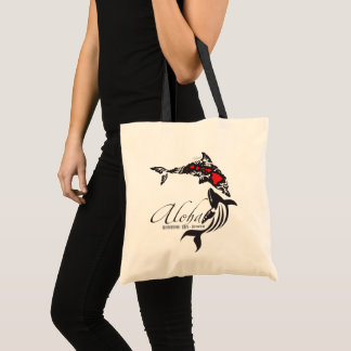 Hawaii Islands Whale Tote Bag