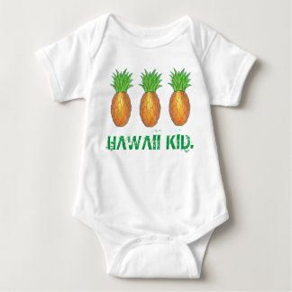 Hawaii Kid Tropical Hawaiian Island Pineapple Baby Bodysuit