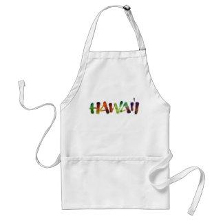 Hawai'i Lettering - Bright Hawaiian Luau Fun Standard Apron