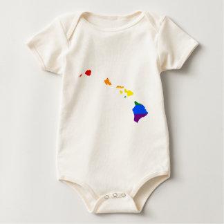Hawaii LGBT Flag Map Baby Bodysuit