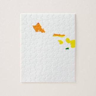 Hawaii LGBT Flag Map Jigsaw Puzzle