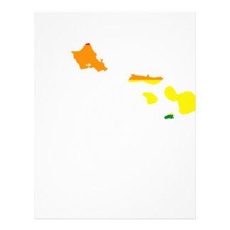 Hawaii LGBT Flag Map Letterhead