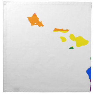 Hawaii LGBT Flag Map Napkin