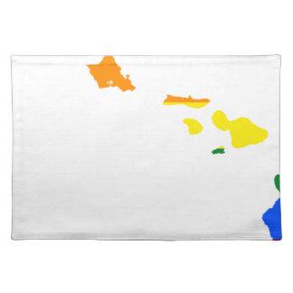 Hawaii LGBT Flag Map Placemat