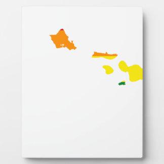 Hawaii LGBT Flag Map Plaque
