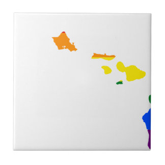 Hawaii LGBT Flag Map Tile