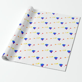 Hawaii LGBT Flag Map Wrapping Paper