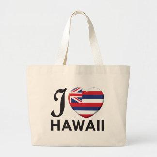 Hawaii Love Large Tote Bag