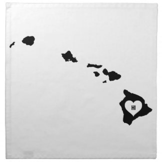 Hawaii Love Napkin