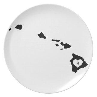 Hawaii Love Plate