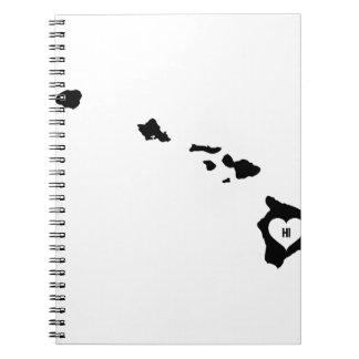 Hawaii Love Spiral Notebook