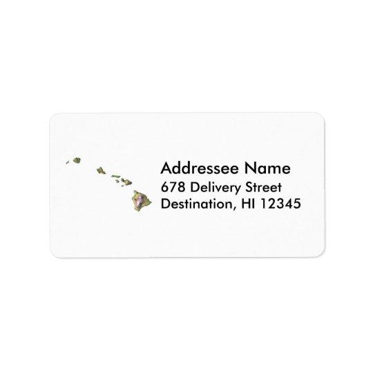 Hawaii Map Address Label