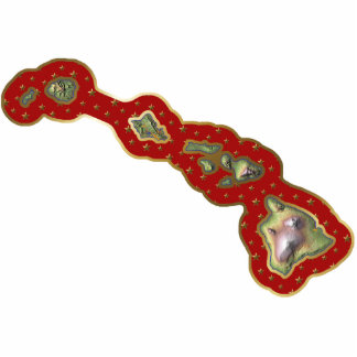 Hawaii Map Christmas Ornament Cut Out