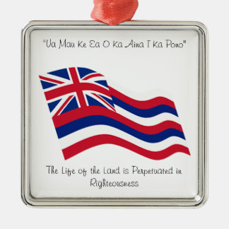 Hawaii motto metal ornament