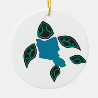 Hawaii Oahu Island Turtle Ceramic Ornament