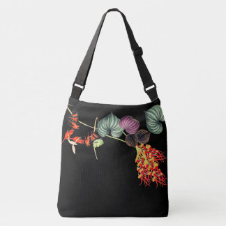 Hawaii Orchid Tropical Flowers Leaves Tote Bag