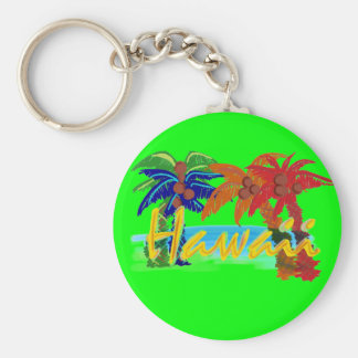 Hawaii palm tree keychain