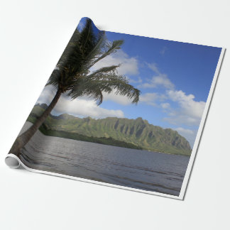 Hawaii, Palm trees and ocean, paradise Wrapping Paper
