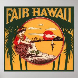 HAWAII PARADISE POSTER