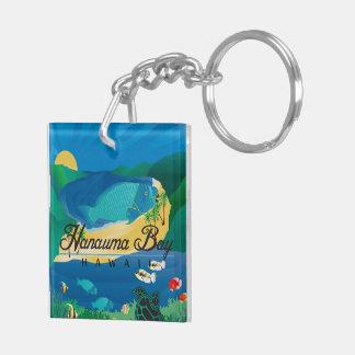 Hawaii Parrot and Trigger Fish - Humuhumunukunukua Keychain