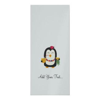 "Hawaii Penguin 4"" X 9.25"" Invitation Card"