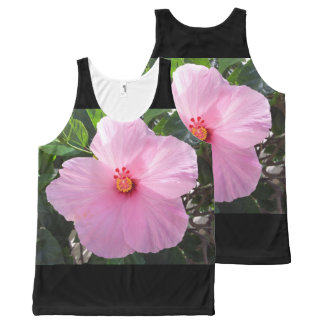 Hawaii Pink Hibiscus Flower All-Over-Print Tank Top