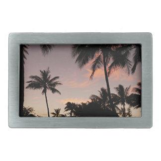 Hawaii pink sunset belt buckles