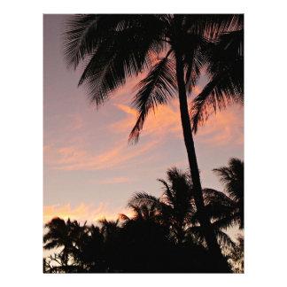 Hawaii pink sunset letterhead