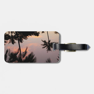 Hawaii pink sunset luggage tag