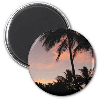 Hawaii pink sunset magnet