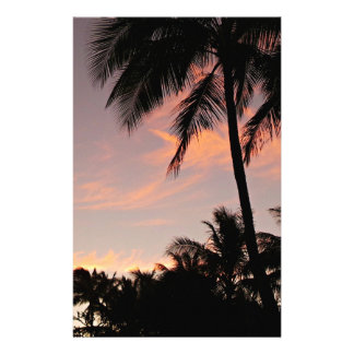 Hawaii pink sunset stationery