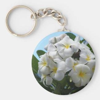 Hawaii Plumeria Flower Keychain