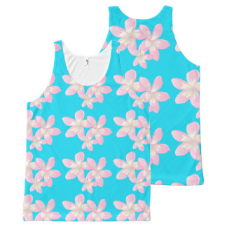 Hawaii Plumeria Flowers All-Over-Print Tank Top