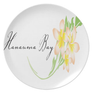 Hawaii Plumeria Flowers Plate