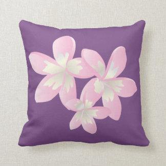Hawaii Plumeria Flowers Throw Pillow